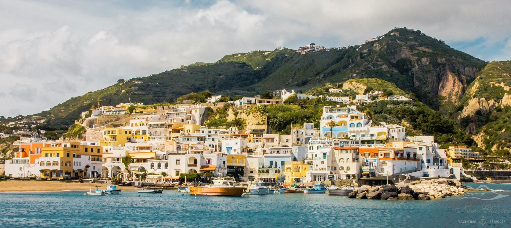 Ischia, località di Sant'Angelo vista dal mare